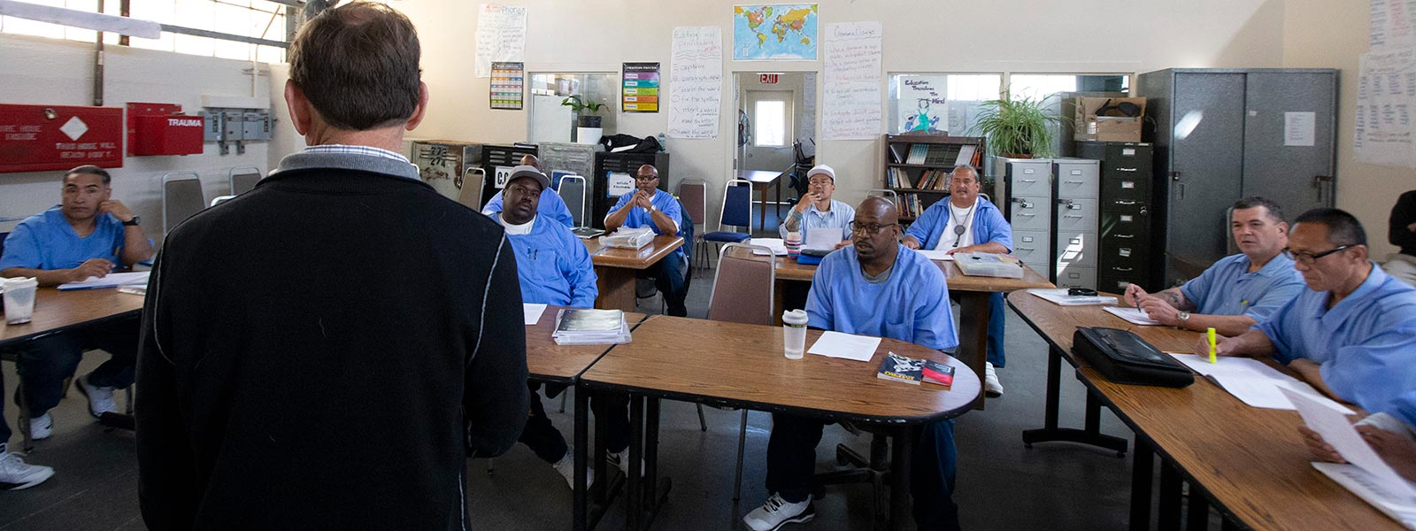 Classroom at San Quentin State Prison