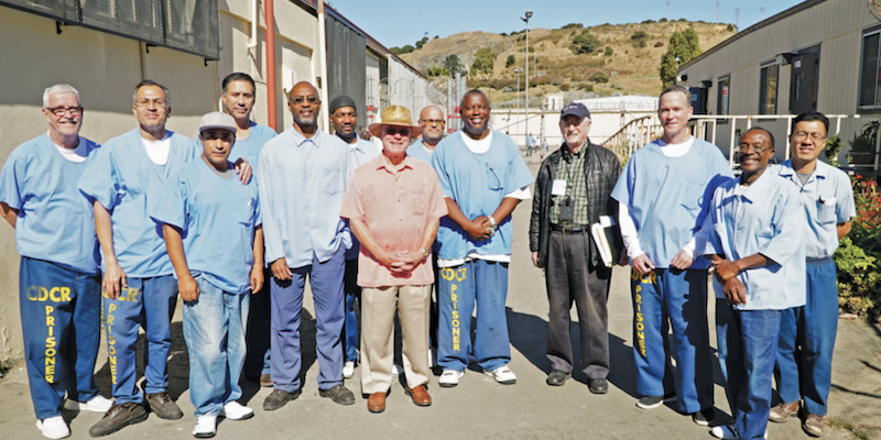 The staff of the San Quentin News consists of incarcerated journalists and volunteers 'from the outside.' Photo courtesy of the San Quentin News.